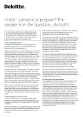 Crisis prevent or prepare image
