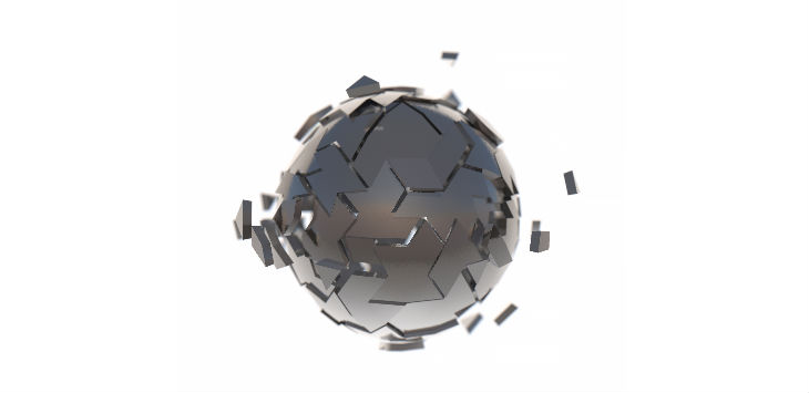 Abstract metal sphere