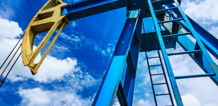 Oil drill and blue sky