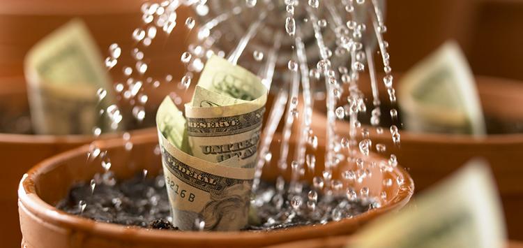 Watering-money